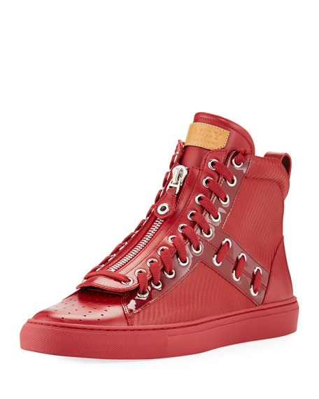 Bally Hekem Patchwork High-Top Sneaker and Matching Items
