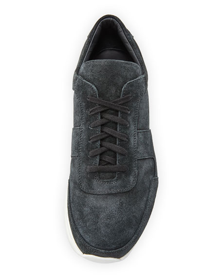 Men's Track Waxed Suede Low-Top Sneaker