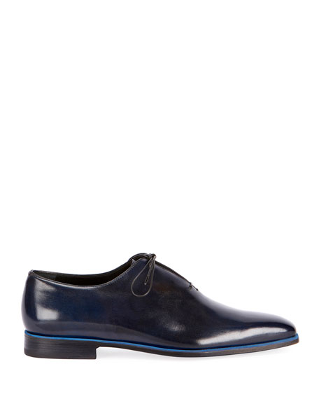 Berluti Profondo One-Piece Leather Shoe