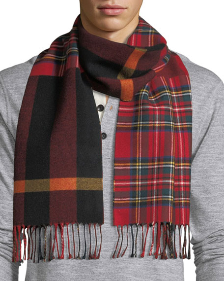 Image 2 of 3: Men's Vintage Check to Check Scarf