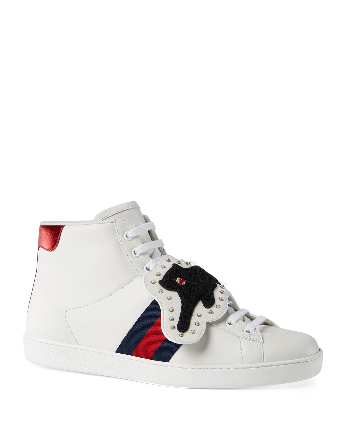 a37aade10cf Gucci Ace Sneaker with Removable Patches | Neiman Marcus