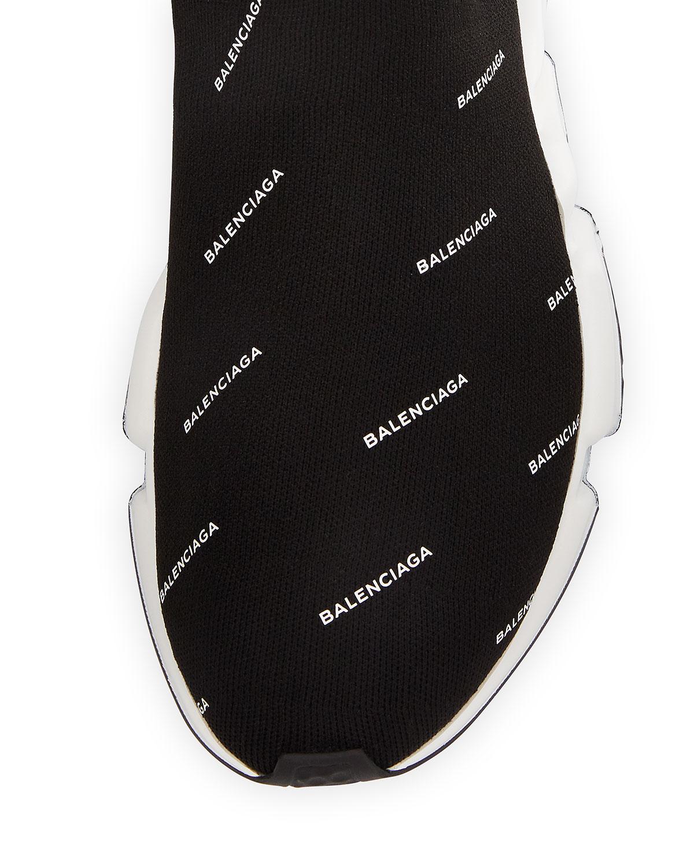 2a6ca883cd8 Balenciaga Men's Speed Signature Mid-Top Trainer Sock Sneakers | Neiman  Marcus