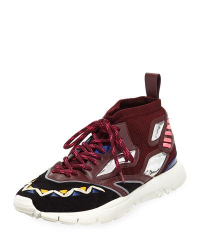 Men's Mirror Rafa Sock Lace-Up Sneakers