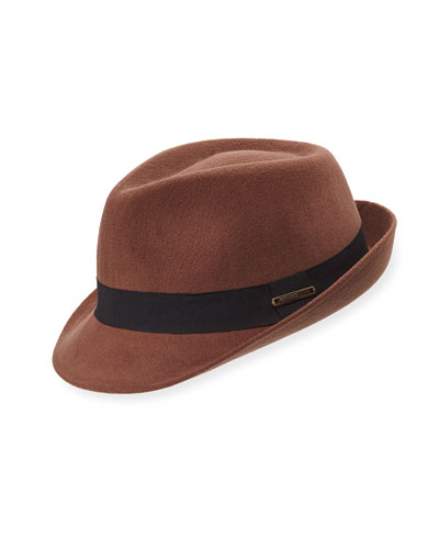 Felt Fedora with Grosgrain Trim