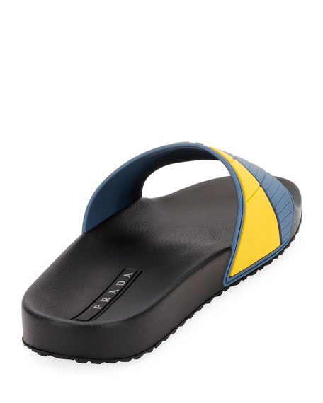 Men's Logo Rubber Slide Sandals