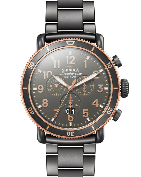 Shinola 48mm Runwell Sport Chronograph Watch, Gray