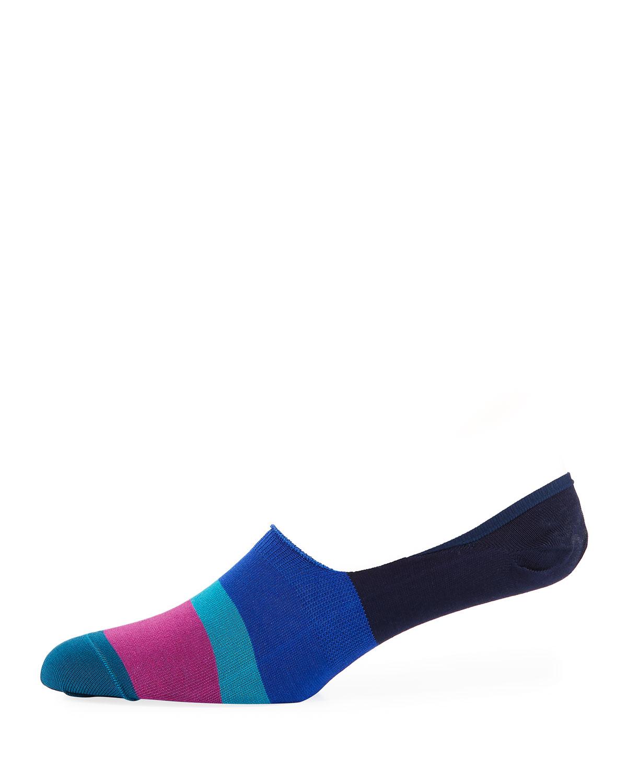 fe523ff048c Paul Smith Dill Striped Cotton-Blend No-Show Socks