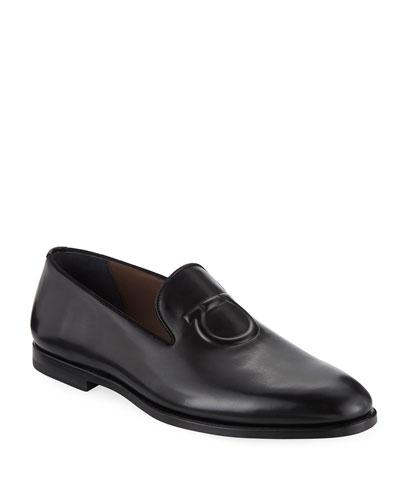 Men's Bruxelles Gancini-Embossed Leather Loafer