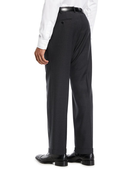 Image 2 of 3: Benson Five-Pocket Standard-Fit Techno Wool Trousers