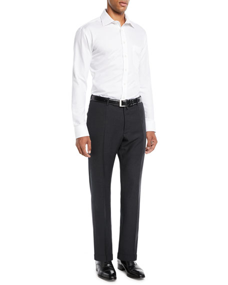 Image 3 of 3: Benson Five-Pocket Standard-Fit Techno Wool Trousers