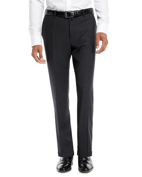Image 1 of 3: Benson Five-Pocket Standard-Fit Techno Wool Trousers