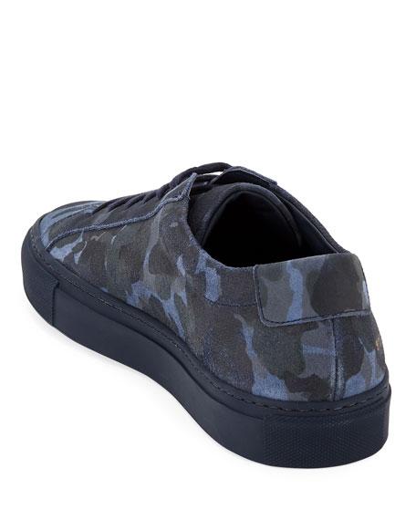 Common Projects Men's Achilles Camo Suede Low-Top Sneakers, Blue