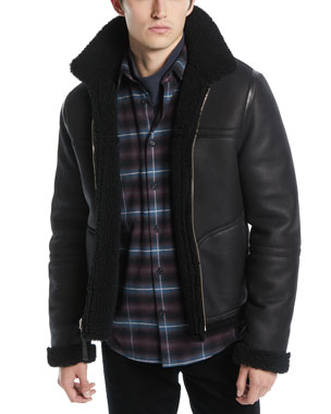 f8b10d82bf Vince Men's Reversible Shearling Leather Jacket