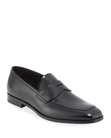 Prada Men's Spazzolato Leather Penny Loafer
