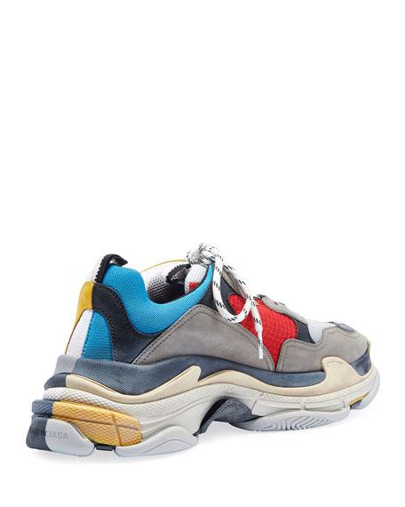 Balenciaga Men's Split Triple S Dad Sneakers