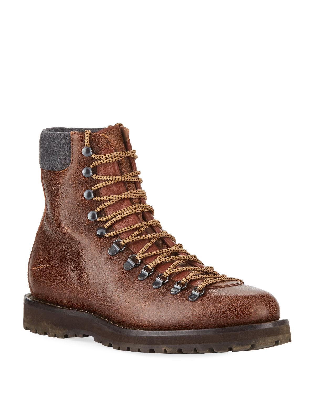 03c50a6e30e Brunello Cucinelli Men s Calf Leather Hiker Boot