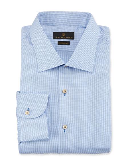 Marcus Solid Cotton Barrel-Cuff Dress Shirt