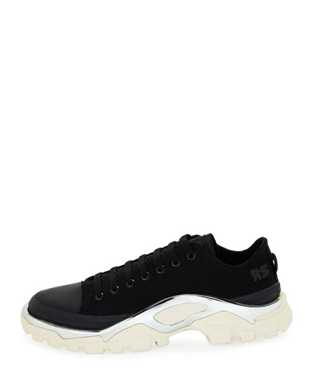 adidas by Raf Simons Men's Detroit Runner Canvas Sneakers, Black