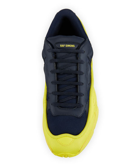 Image 2 of 3: Men's Ozweego Dipped Color Trainer Sneakers, Blue/Yellow