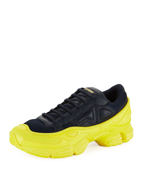 Image 1 of 3: Men's Ozweego Dipped Color Trainer Sneakers, Blue/Yellow