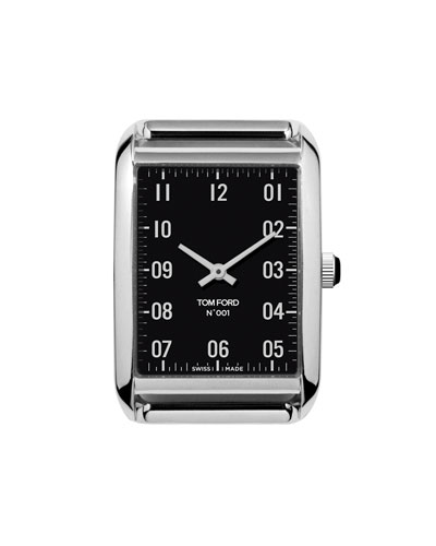 Polished Stainless Steel Case  Black Dial  Medium