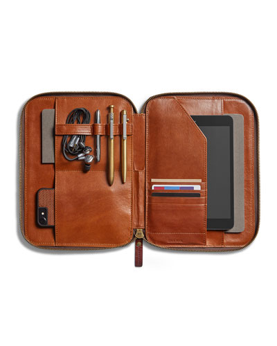 Men's Leather Tech Portfolio Case