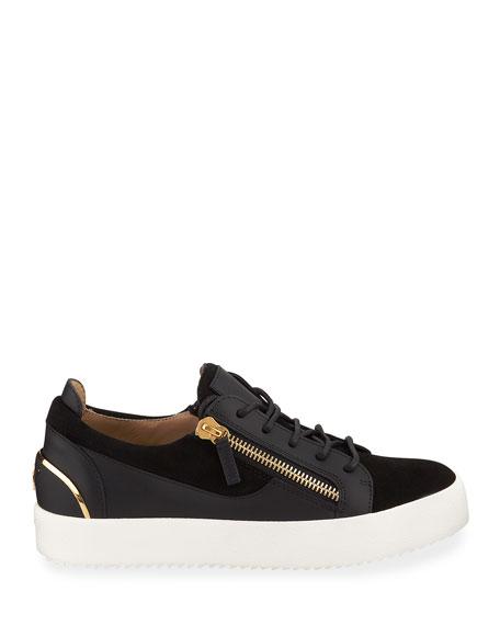 Giuseppe Zanotti Men's Suede & Leather Low-Top Sneakers
