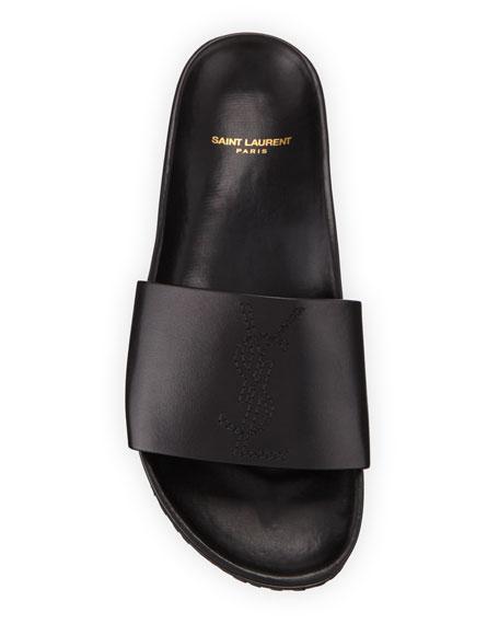Saint Laurent Men's Jimmy 20 YSL Slide Sandals