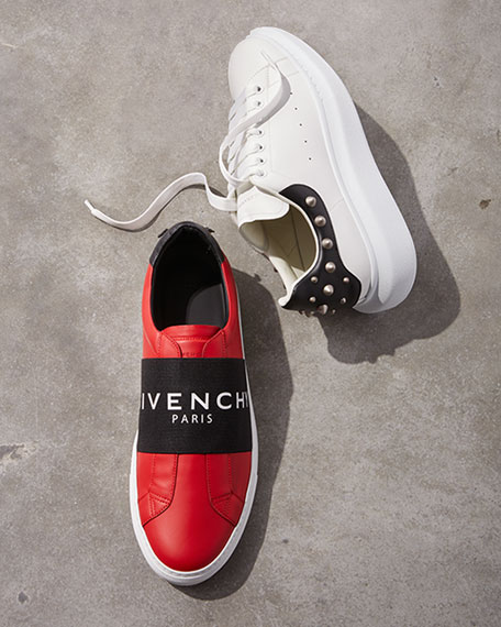Givenchy Men's Urban Street Elastic Slip-On Sneakers, Red/Black