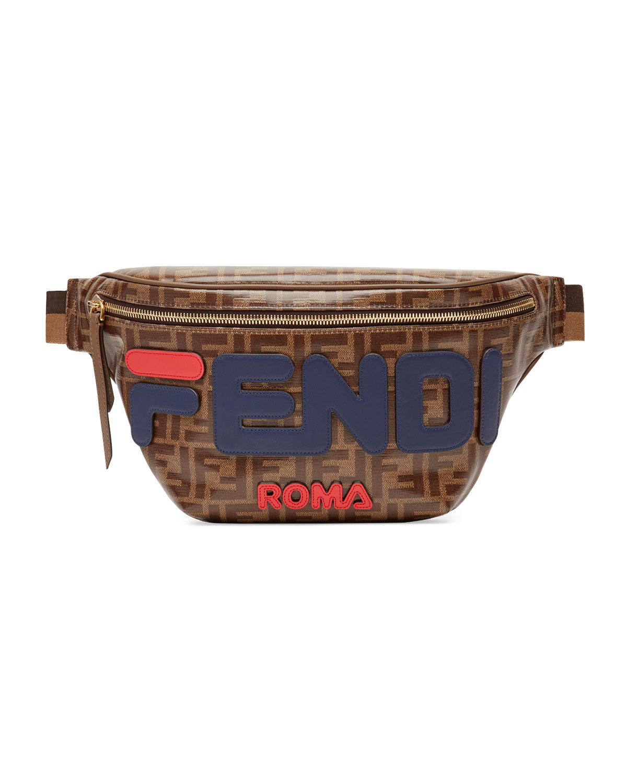 bf2ea5039e Men's Fendi Mania Coated Canvas Belt Bag/Fanny Pack