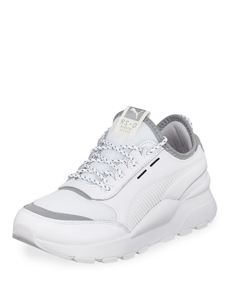 Puma Men's RS-0 Optic Pop Leather Running Sneakers