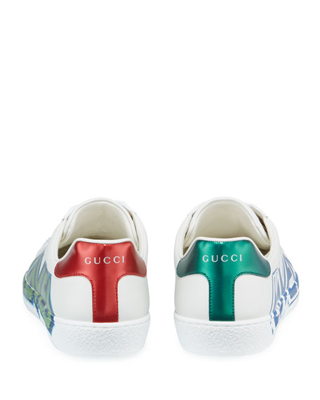 Gucci Men's Ace 'Loved' Leather Sneakers