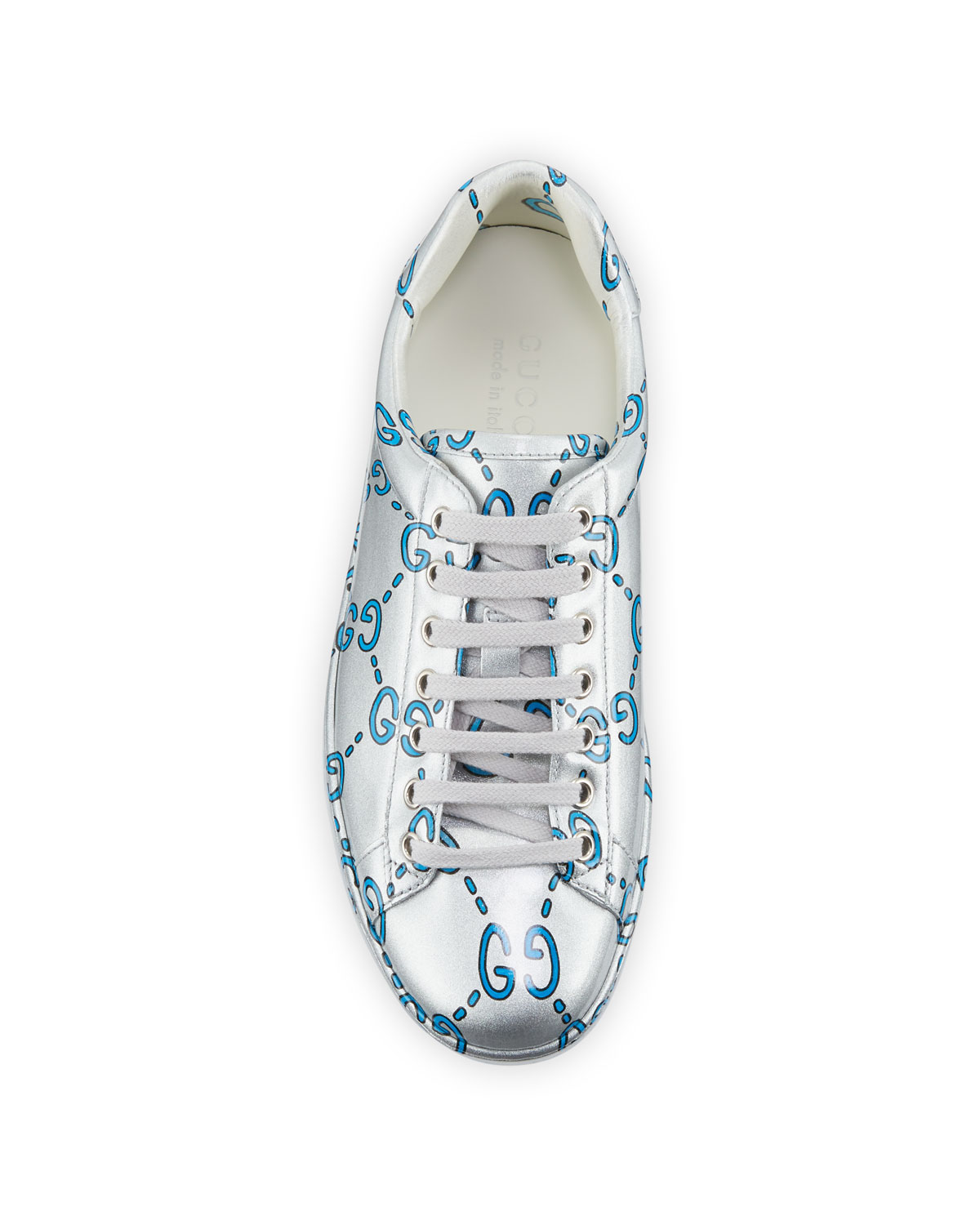 Ace GG Coated Leather Sneakers