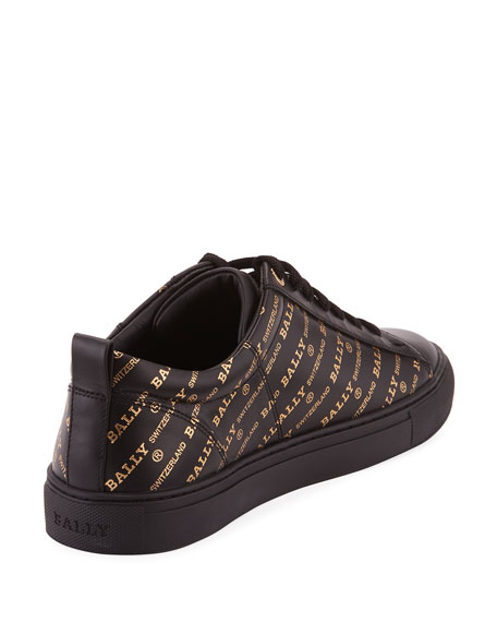 Bally Men's Helmer Logo-Print Low-Top Sneakers