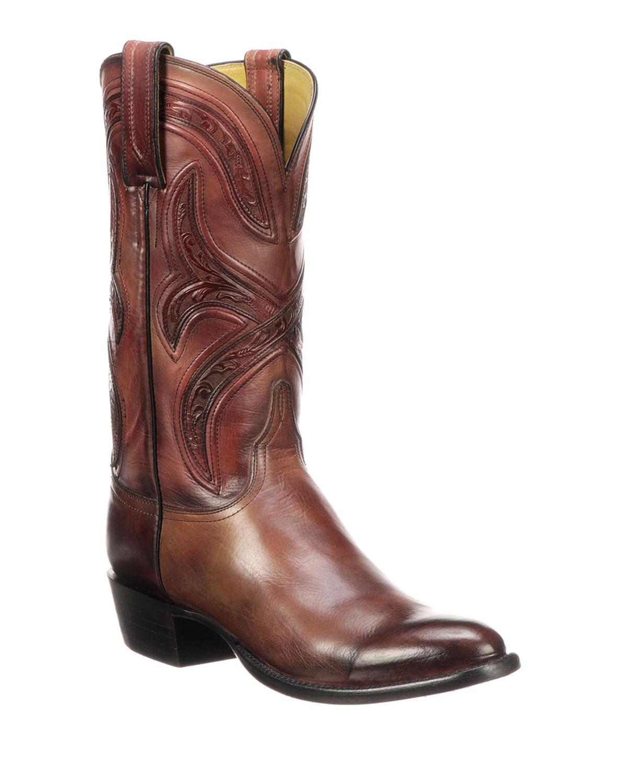 486a2141c35 Men's Knox Leather Cowboy Boots