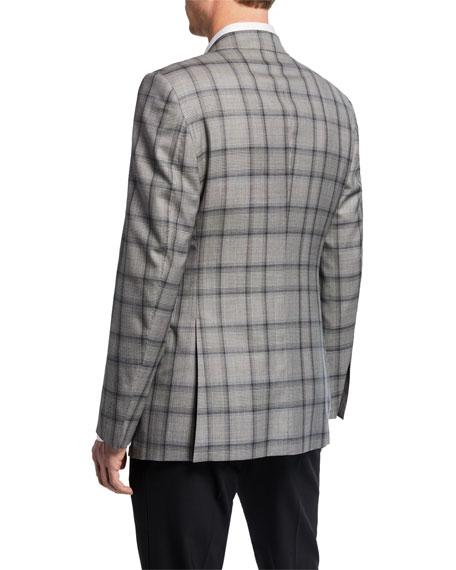 TOM FORD Men's O'Connor Peak-Collar Plaid Jacket