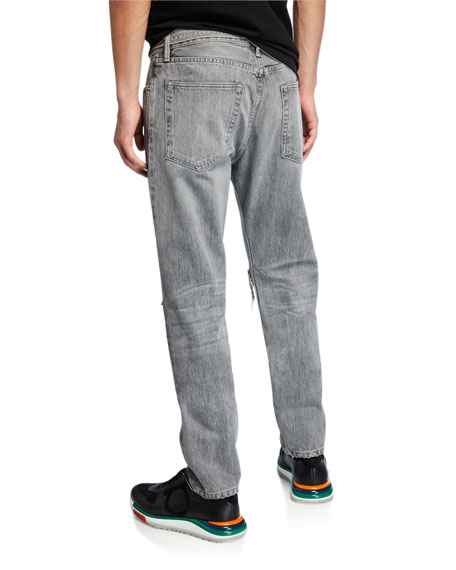 Fear of God Men's Core Gray-Wash Distressed Jeans