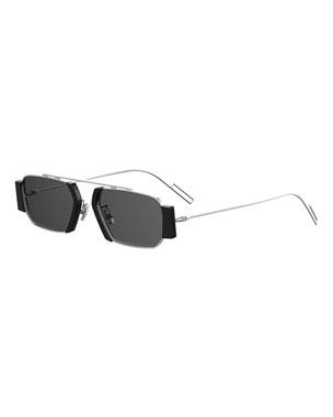 f2e32d8d4 Dior Men's Rectangular Metal Sunglasses