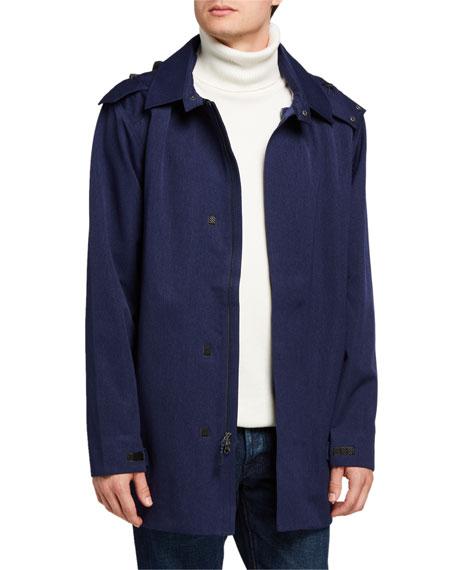 Fisher + Baker Men's Chelsea Water-Resistant Trench Coat