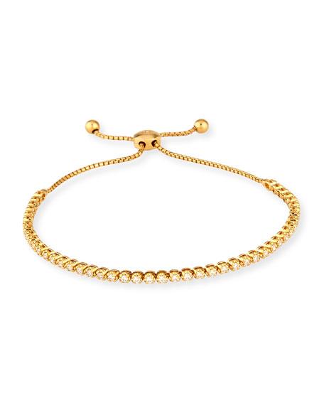 18K Yellow Gold Illusion-Set Diamond Bracelet