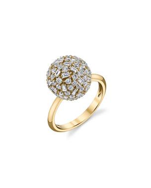 42c768f8e70ea1 Borgioni Mixed-Cut Diamond Ball Ring in 18K Gold