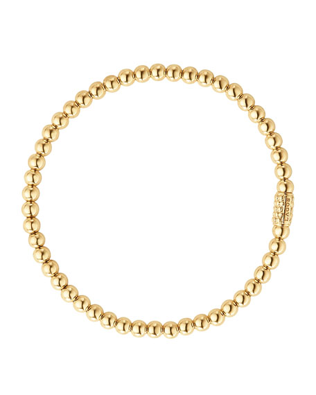 LAGOS 4mm 18K Gold Caviar Ball Bracelet