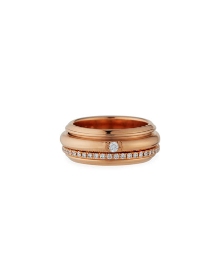 PIAGET Possession Turning Band Ring with Diamonds in