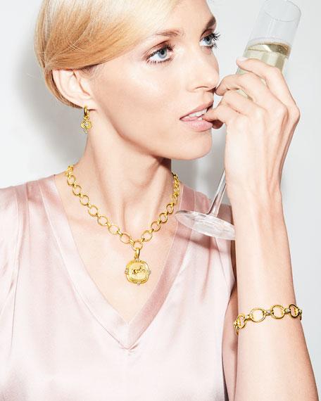 Elizabeth Locke 19k Rearing Horse Diamond Pendant