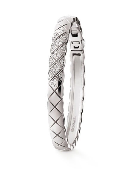 CHANEL COCO CRUSH BRACELET IN 18K WHITE GOLD  AND DIAMONDS