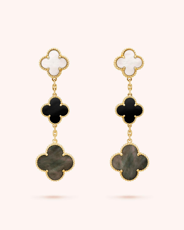 Van Cleef Arpels Magic Alhambra Earrings 3 Motifs