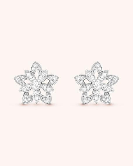Van Cleef & Arpels Lotus Openwork Earrings, Mini