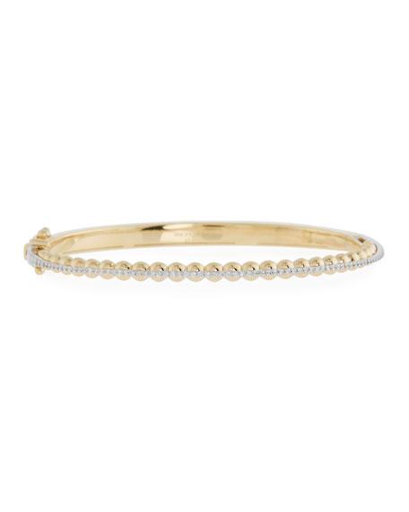 Miseno Marea 18k Gold Two-Tone Diamond Bangle Bracelet