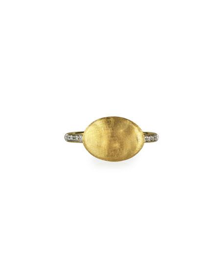 Marco Bicego Siviglia Horizontal Ring with Diamonds, Size 7
