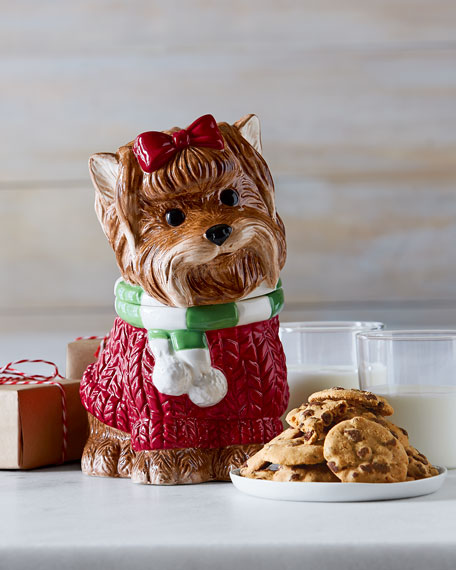 Yorkie Cookie Jar with Cookies